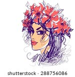 vector background with a... | Shutterstock .eps vector #288756086
