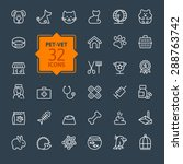 thin lines web icon set   pet ... | Shutterstock .eps vector #288763742