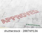 a generic paper based proposal... | Shutterstock . vector #288769136
