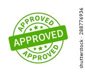 approved stamp  label  sticker... | Shutterstock .eps vector #288776936