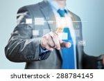 close up of businessman hand... | Shutterstock . vector #288784145