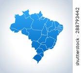 map of brazil   Shutterstock .eps vector #288793442