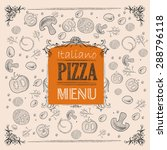 pizza sketch background | Shutterstock .eps vector #288796118