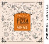 pizza sketch background | Shutterstock .eps vector #288796118