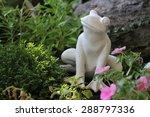 White Frog Statue