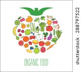 shape with organic food ... | Shutterstock .eps vector #288797522