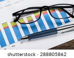 close up of a eyeglasses and... | Shutterstock . vector #288805862