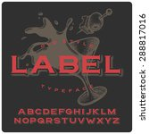 old style vermouth label... | Shutterstock .eps vector #288817016