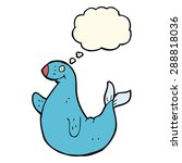 cartoon seal with thought bubble | Shutterstock . vector #288818036