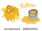 yellow paint as a funny man   Shutterstock .eps vector #288820052