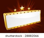 gold theatre sign with stars on ...   Shutterstock .eps vector #28882066
