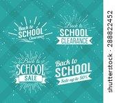 back to school typographic  ... | Shutterstock .eps vector #288822452