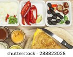 scrambled egg omelet with... | Shutterstock . vector #288823028