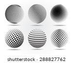 halftone sphere.halftone vector ... | Shutterstock .eps vector #288827762