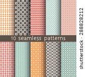 10 seamless patterns for... | Shutterstock .eps vector #288828212