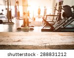 fitness gym and wooden desk... | Shutterstock . vector #288831212