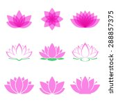 lotus flower set. lotus symbol... | Shutterstock .eps vector #288857375