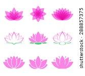 lotus flower set. lotus symbol... | Shutterstock .eps vector #288857375