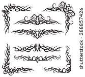 set of lines vector decorative... | Shutterstock .eps vector #288857426