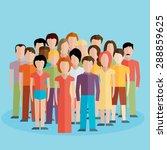 flat illustration of society... | Shutterstock .eps vector #288859625