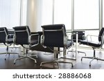 an empty boardroom in a modern... | Shutterstock . vector #28886068
