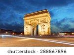 paris  arc de triumph  france | Shutterstock . vector #288867896