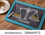 value price concept on balance... | Shutterstock . vector #288869972