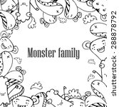 vector illustration of monsters ... | Shutterstock .eps vector #288878792