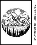 nature mountain vector... | Shutterstock .eps vector #288882782