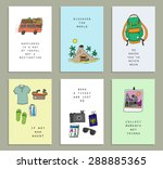 concept cards about traveling.... | Shutterstock .eps vector #288885365