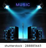 stage with audio speakers ... | Shutterstock .eps vector #288885665