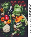 all fresh vegetables in a large ...