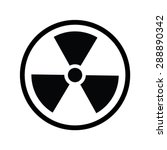 the radiation icon. radiation... | Shutterstock .eps vector #288890342