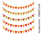 garlands of festive flags... | Shutterstock .eps vector #288891146