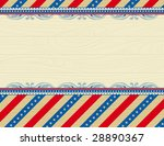 Wooden Usa Background With...