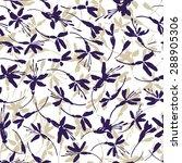 small blue flowers   vector... | Shutterstock .eps vector #288905306