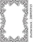 vintage baroque frame is... | Shutterstock .eps vector #288905915