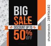 big sale up to 50  off. vector... | Shutterstock .eps vector #288906182