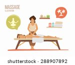 man on a vacation. spa massage... | Shutterstock .eps vector #288907892