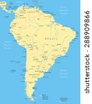 south america map   highly... | Shutterstock .eps vector #288909866