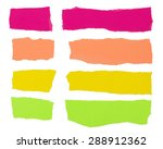 colorful strips of paper useful ... | Shutterstock . vector #288912362