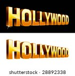 vector illustration of hollywood | Shutterstock .eps vector #28892338