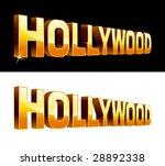 vector illustration of hollywood | Shutterstock .eps vector #28892338
