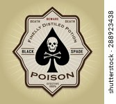 vintage retro poison label  | Shutterstock .eps vector #288923438