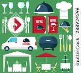 vector catering restaurant... | Shutterstock .eps vector #288924296