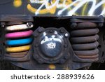 close up of rusted springs on...   Shutterstock . vector #288939626