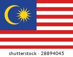 official flag of malaysia | Shutterstock . vector #28894045