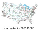 united states of america road... | Shutterstock .eps vector #288945308