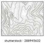 topographic map with contour... | Shutterstock .eps vector #288945632