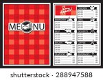 menu design with fork and spoon | Shutterstock .eps vector #288947588